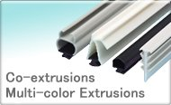 Co-extrusions, Multi-color Extrusions